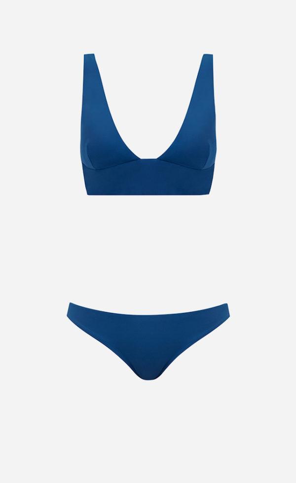 triangle bikini ocean blue front