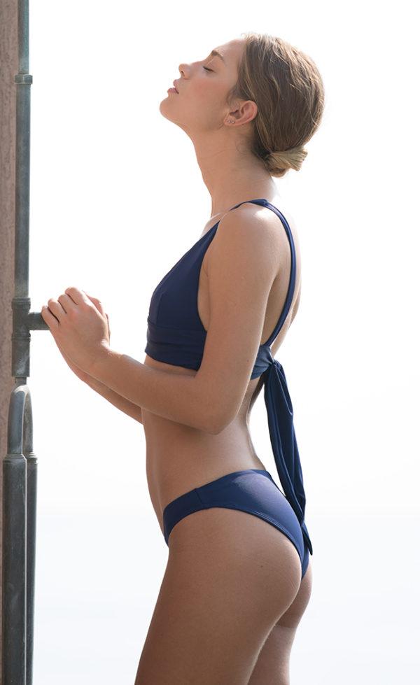 triangle bikini ocean blue