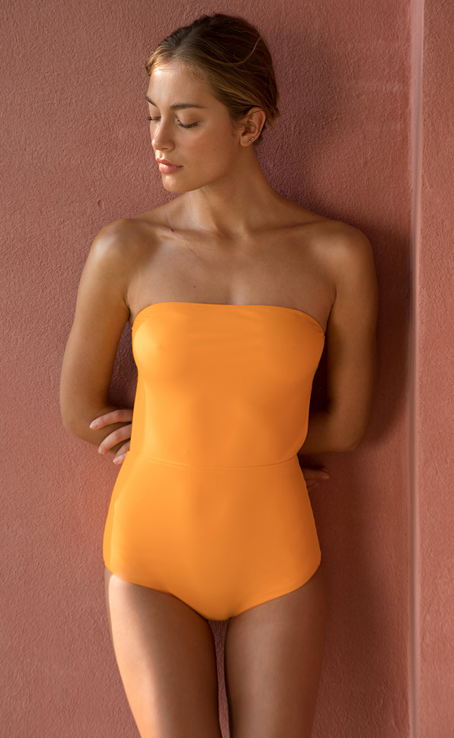 One-piece swimsuit tube amber 2
