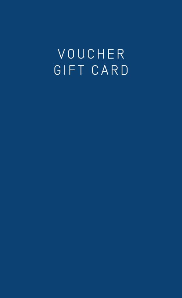 Kaio swim's voucher gift card in blue.